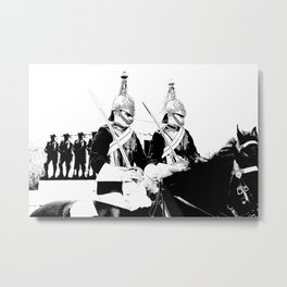 Household Cavalry Changing Of The Guard Art Metal Print