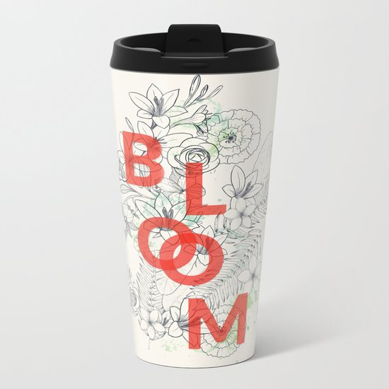 Vintage Bloom #society6 Metal Travel Mug