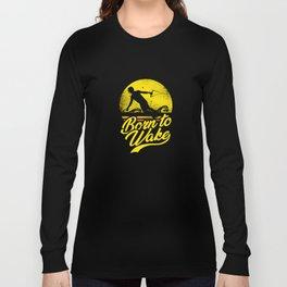 Wakeboarding Sunset Wakeboarder Long Sleeve T-shirt