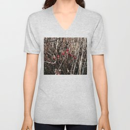 Thorned Berries of Winter Unisex V-Neck