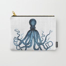 Octopus coastal ocean blue watercolor Carry-All Pouch