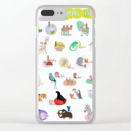 The Animal ABC , alphabet Clear iPhone Case