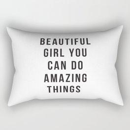 Beautiful Girl You Can Do Amazing Things Rectangular Pillow