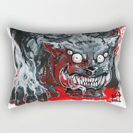 Monster Kitty 'Play Bow' Rectangular Pillow