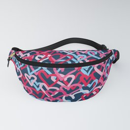 Colorful  Hearts - Graffiti Style Fanny Pack
