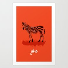 4-Legged Exotica Series: Zebra Art Print