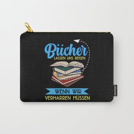 Books Reading Bookworm Design For Bookworms Carry-All Pouch