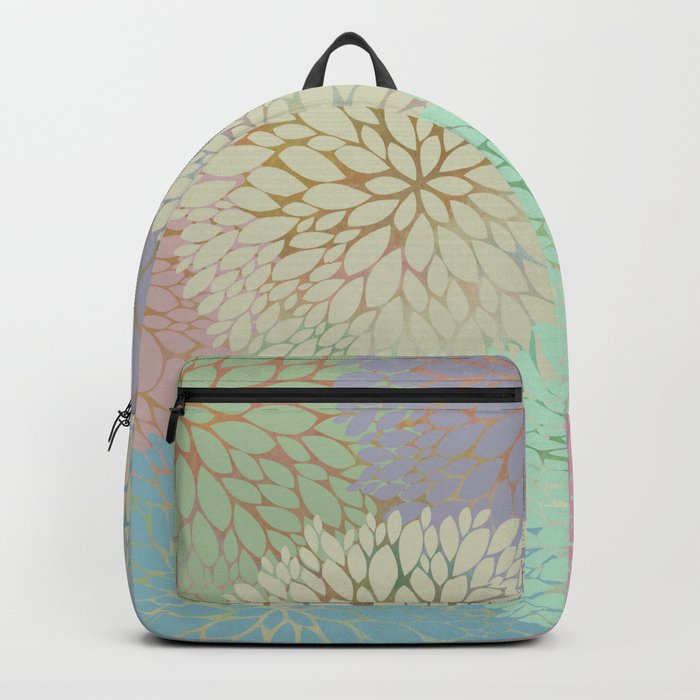 Abstract Floral Petals Backpack
