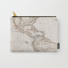 Vintage Map of North and South America (1843) Carry-All Pouch
