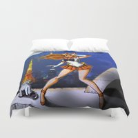 sailor venus Duvet Covers featuring Sailor Venus by Nelson Rodrigues