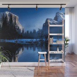 El Capitan Yellowstone Winter Landscape Wall Mural