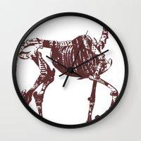 heels Wall Clocks featuring Hell's heels by fabiodicampli