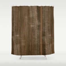 Australian Walnut Wood Shower Curtain