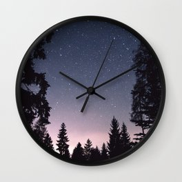Starry Sunset | Nature and Landscape Photography Wall Clock