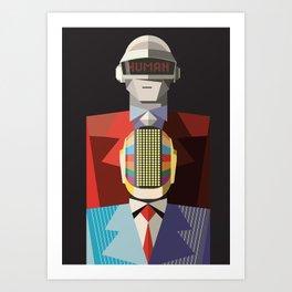 Human - DaftPunk Art Print