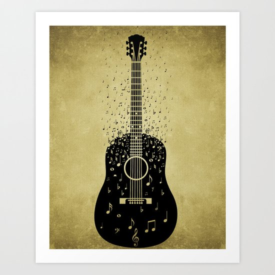 Musical ascension Art Print