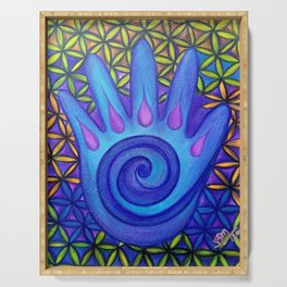 Hippie Hamsa Hand Serving Tray