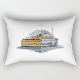 Ferries - nyc vs istanbul Rectangular Pillow