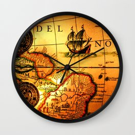 map sea Wall Clock