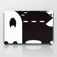 pac man iPad Cases featuring PAC MAN by MISTER BLACKWHITE