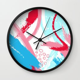 Expressive red Wall Clock