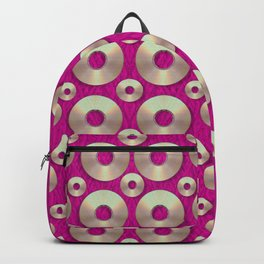 Going gold or metal on fern pop art Backpack