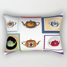 Teapots in Abstract Rectangular Pillow