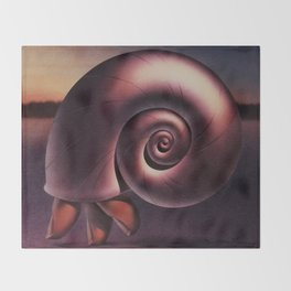 Finger Snail Throw Blanket