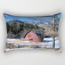 Deserted Barn in the Adirondacks Rectangular Pillow