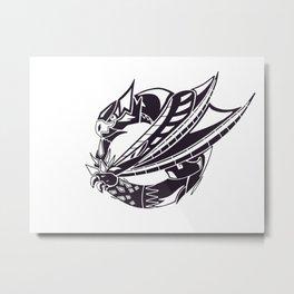 Nargacuga Sigil Metal Print