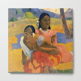 Affordable Art $300,000,000 When Will You Marry by Paul Gauguin Metal Print
