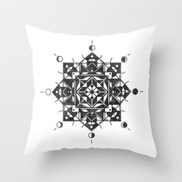 Phases of the Moon Throw Pillow