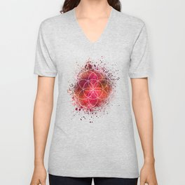 Seed of Life Sacred Geometry Unisex V-Neck
