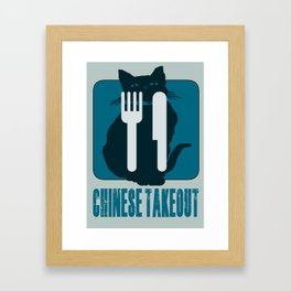 chinese takeout Framed Art Print