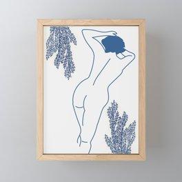 Blue Bodied Framed Mini Art Print