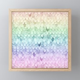 MAGIC MERMAID - PASTEL RAINBOW Framed Mini Art Print