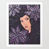 beth hoeckel Art Prints featuring Beth by Annotated Audrey