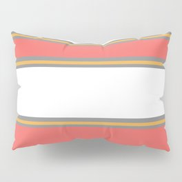 Minimal Abstract Lucite green, Coral, Grey, Honey, and White 02 Pillow Sham