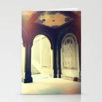 gossip girl Stationery Cards featuring Bethesda Fountain Gossip Girl by b4lt1m0re