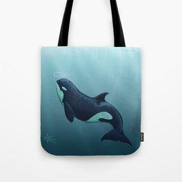 """Subantarctic"" by Amber Marine ~ Type D Orca, Art (Copyright 2014) Tote Bag"
