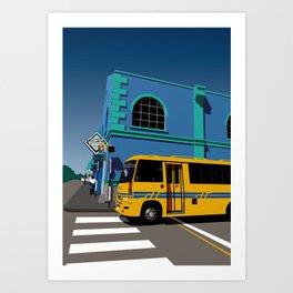 Bridgetown Art Print