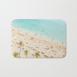 Waikiki beach in Hawaiian summer. Bath Mat