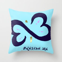 Rescue Me Minimal Throw Pillow