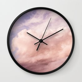 Perfect Pink Summer Sky Nature Photography Wall Clock