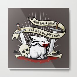 The Rabbit of Caerbannog Metal Print