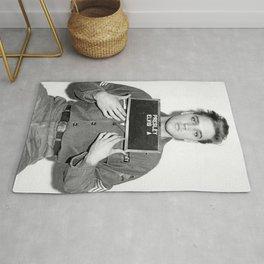 Elvis Mugshot, Elvis Poster, elvis presley art, elvis presley gifts, Celebrity Mugshot, Musician Mugshot, vintage wall art, musician art Rug