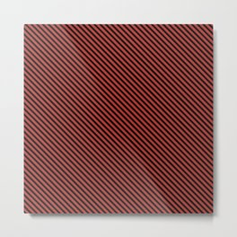 Aurora Red and Black Stripe Metal Print