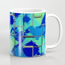 Abstract Squares Blue & Green Coffee Mug