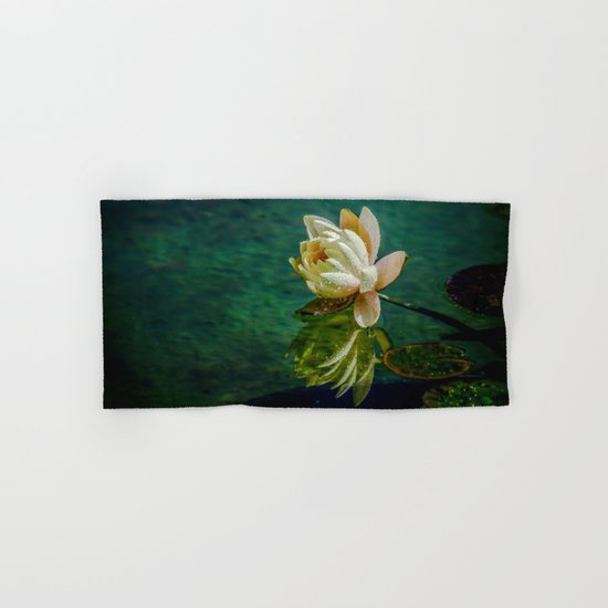 Water Lily after rain Hand & Bath Towel
