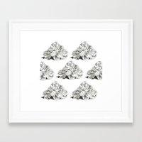 shells Framed Art Prints featuring SHELLS by sincerelykarissa